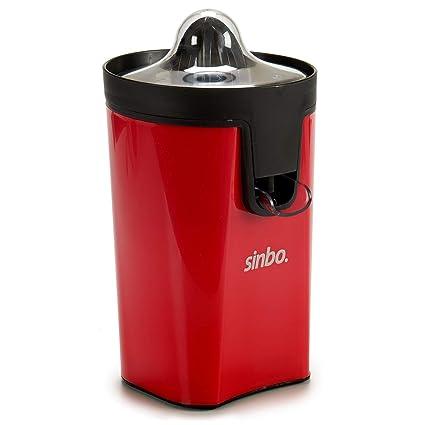Sinbo Exprimidor eléctrico para Naranjas y cítricos de 30 W. Dos Cabezales y Guardapolvo.
