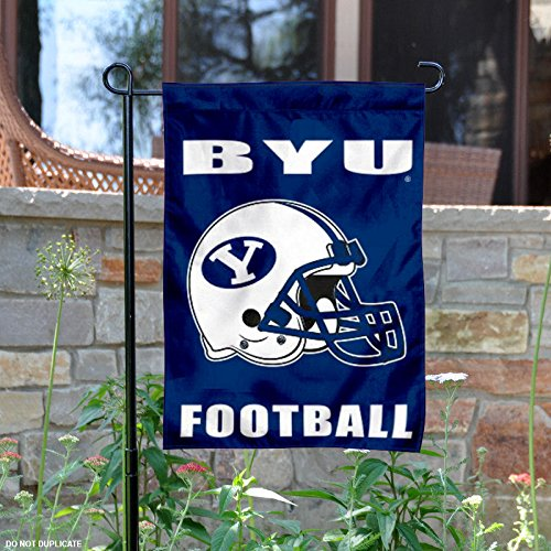 Brigham Young Byu Cougars Football (Brigham Young Cougars Football Helmet Garden Flag)