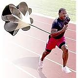 StillCool Running Speed Training, 56 inch Speed Drills Resistance Parachute Running Sprint Chute Soccer Football Sport Speed Training Black