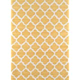 Momeni Rugs GEO00GEO-4YEL2030 Geo Collection, Contemporary Area Rug, 2' x 3', Yellow