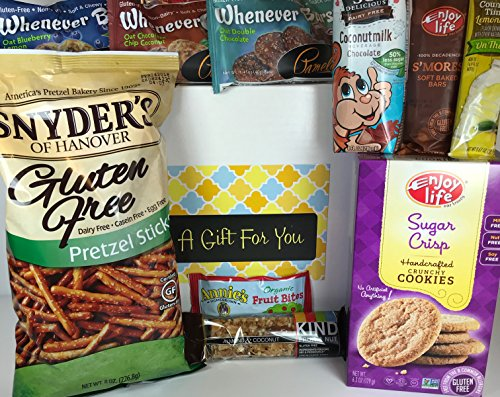 Gluten Free Dairy Free Prime Gift Box Basket - Yummy Treats & Almost 2.5 Pounds - For Birthday, College, Military, Care Package, Thinking of You, Get Well, Christmas, Mother's Day, Father's Day, More! (Birthday Gift Baskets For Husband)