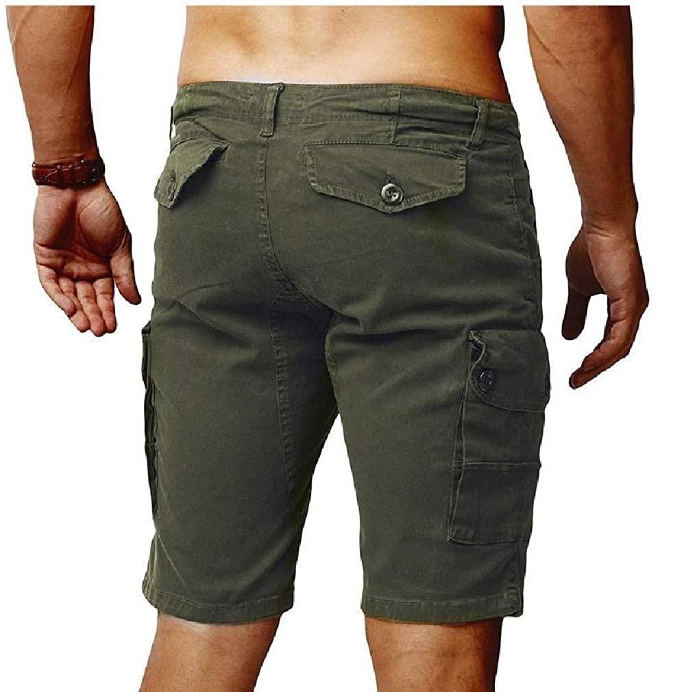 VITryst-Men with Side Pockets Bechwear Plus-Size Relaxed Board Shorts
