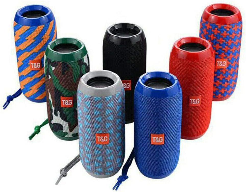 Alician Loud Bluetooth Speaker Wireless Waterproof Outdoor Stereo Bass USB//TF//FM Radio Black