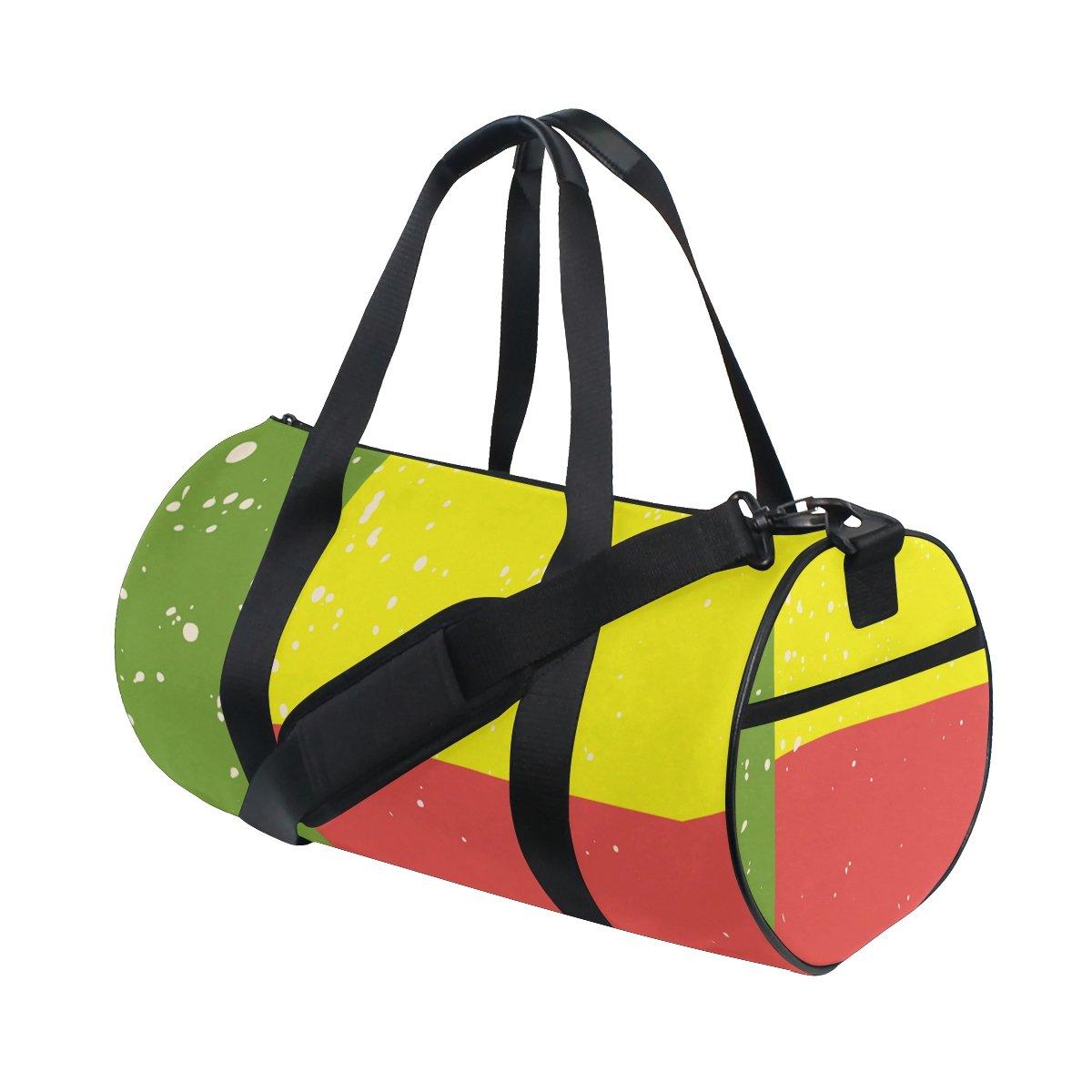 Distressed Benin Flag Travel Duffel Shoulder Bag ,Sports Gym Fitness Bags