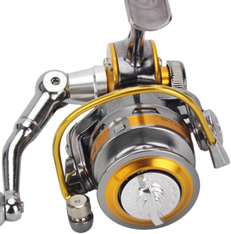 perfeclan Ultraleicht Angelrolle Spinnrolle Salzwasserrolle Station/ärrollen Trommelrolle mit CNC-Drahtbecher