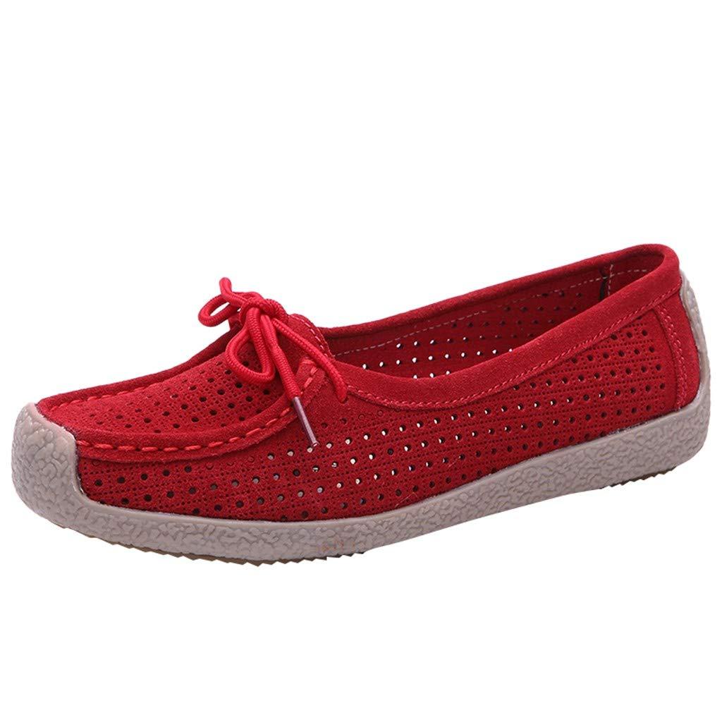 319040c3388ad Amazon.com: Wulofs Women Wild Peas Shoes Loophole Flat Hollow Casual ...
