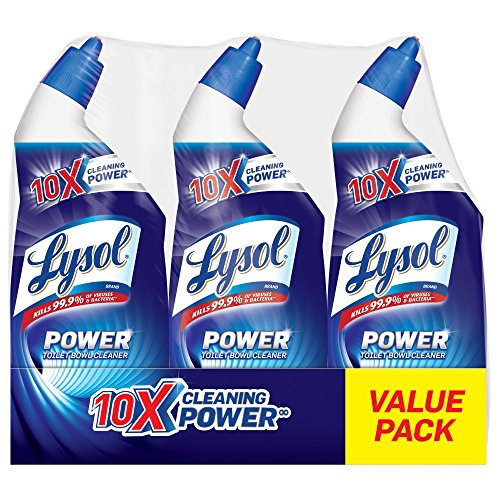 Lysol Power Toilet Bowl Cleaner, 72oz (3X24oz), 10X Cleaning Power