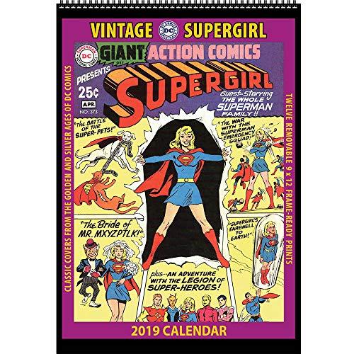 - Vintage Supergirl 2019 Calendar: Classic DC Comics Covers