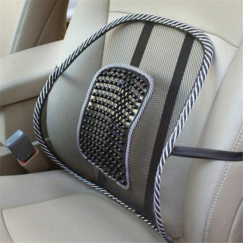 Leikance Coj/ín de malla para coche hogar coj/ín de masaje respaldo de silla oficina coche alivio lumbar cami/ón 1 unidad