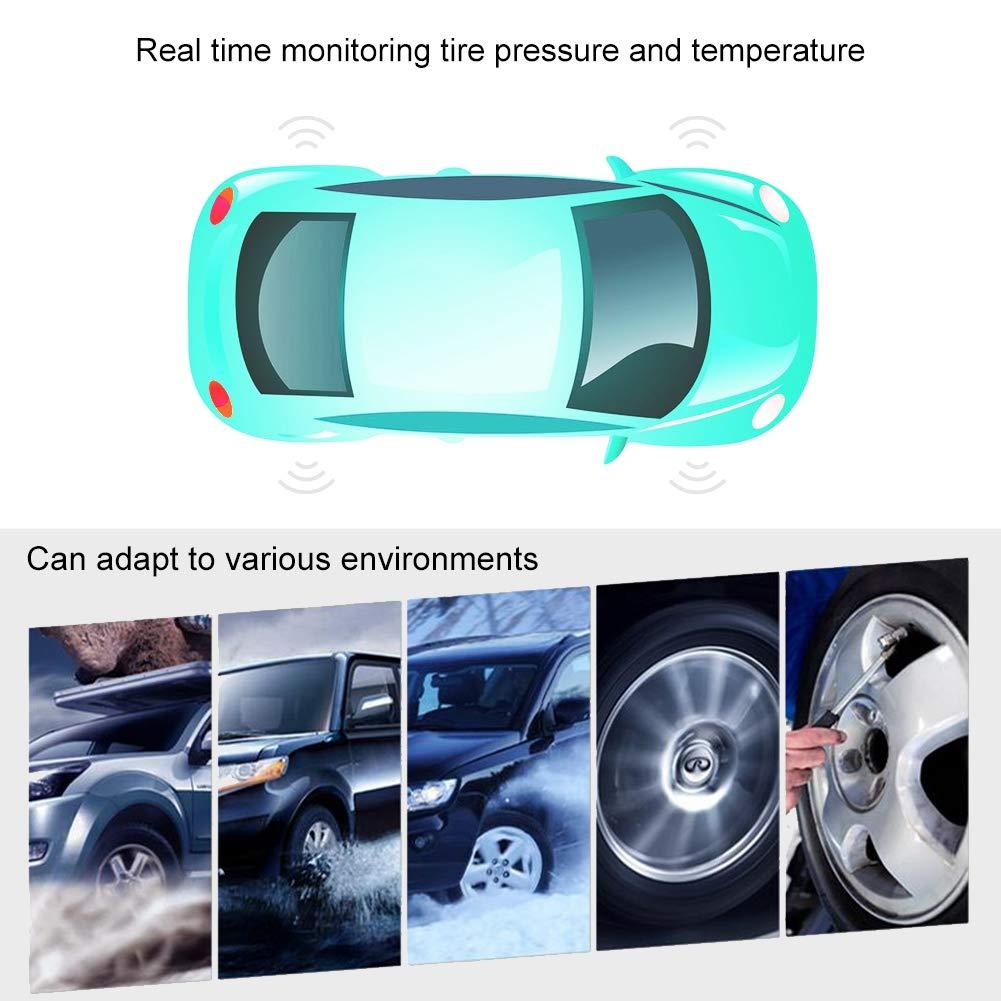 Sistema di monitoraggio della pressione dei pneumatici wireless Display LCD digitale con 4 sensori Qii lu Solar Power Car TPMS