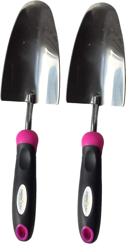 Stainless Steel Hand-E Garden Trowel Perfect Hand Shovel for Weeding Garden Guru Super Strong Garden Trowel Shovel Pink 1 Pack Ergonomic Grip Transplanting and Digging