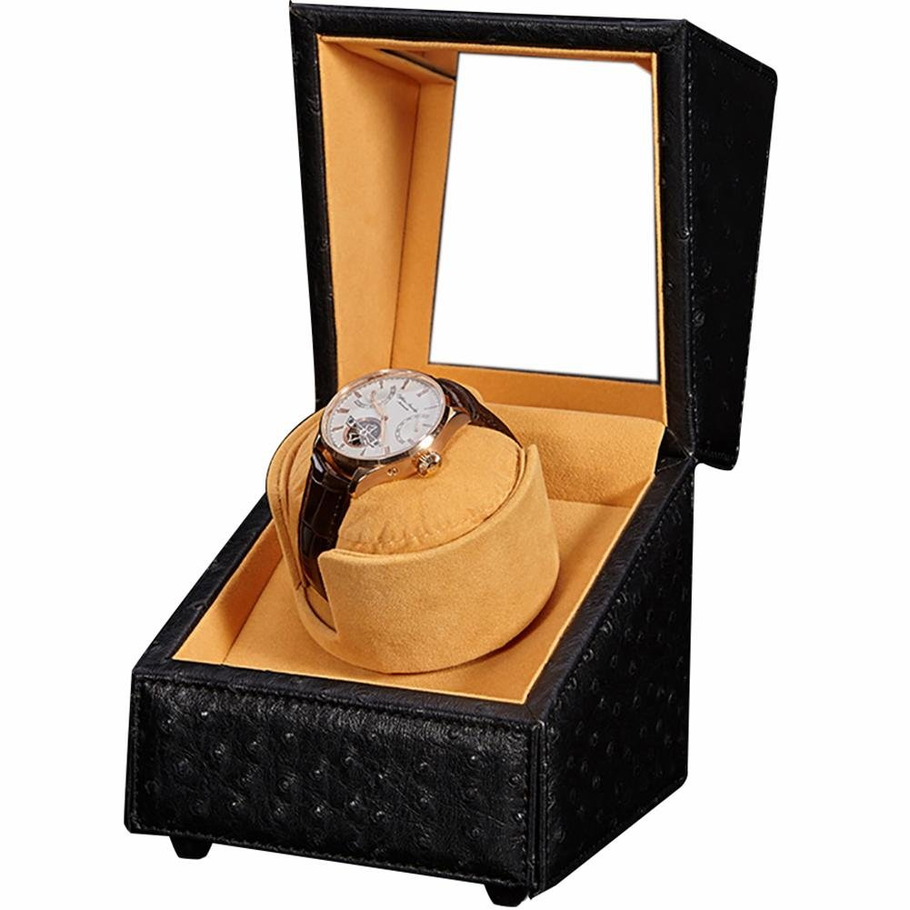 KAIHE-BOX Automatic single Watch Winder Watch Box ,6 colors&Material,3 Timer Modes,Mabuchi Silent Motor,100% quality ww-3804 , E