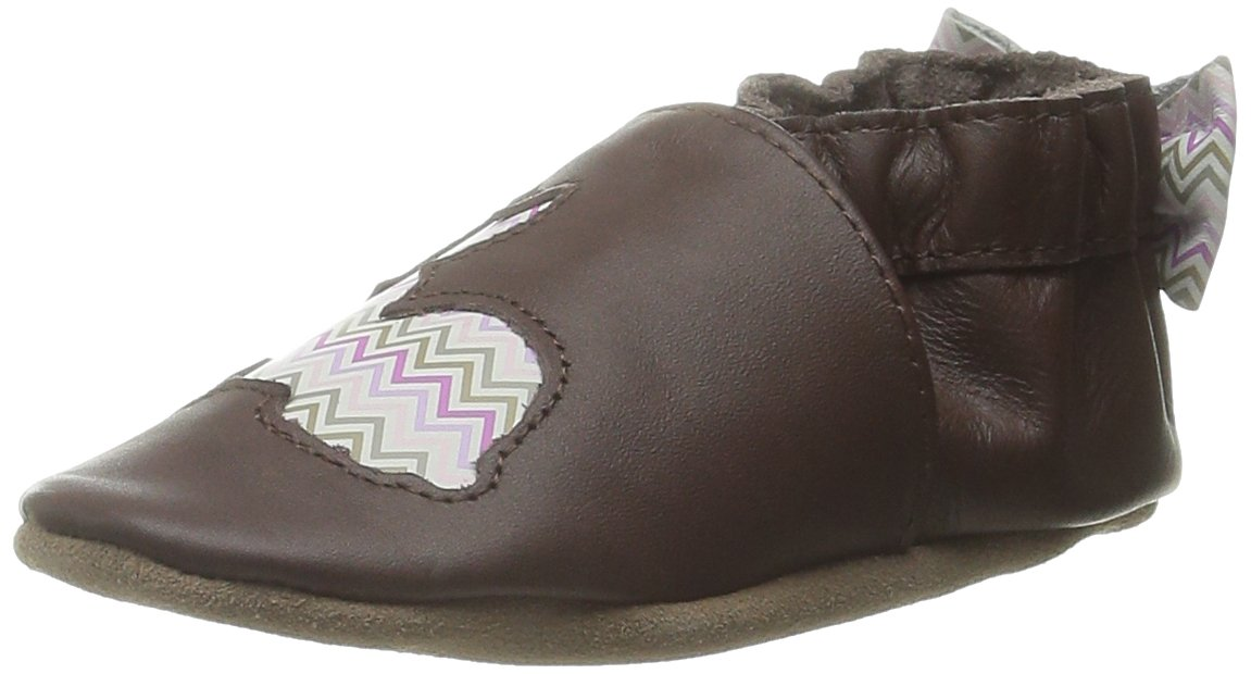 Robeez Hopping Haley Crib Shoe (Infant), Brown/Pink, 0-6 Months M US Infant by Robeez