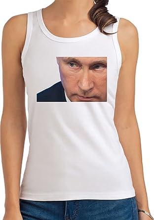 Vladimir Putin Camiseta De Tirantes para Mujer Blanco Todos ...