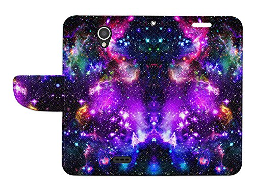 FINCIBO Prestige 2 N9136 Case, Fashionable Flap Wallet Pouch Cover Case + Credit Card Holder with Kickstand For ZTE Prestige 2 N9136 2017 - Purple Marvel Nebula Galaxy by Fincibo (Image #2)