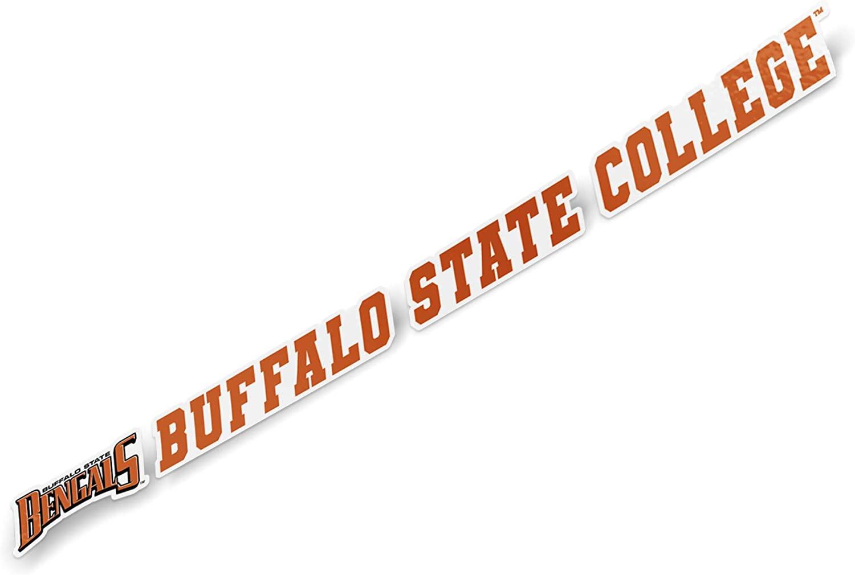 Buffalo State College SUNY Bengals NCAA Name Logo Vinyl Decal Laptop Water Bottle Car Scrapbook (15 Inch Sticker)