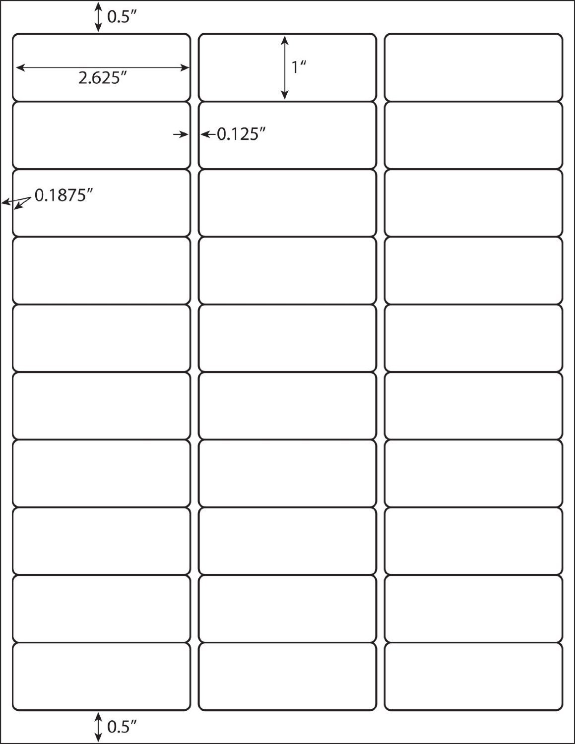 label sheet template