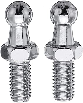 Round Ball Screws Metal for Gas Lift Support Strut Fitting 4 Pack Monrand 10mm Ball Studs With Hardware 5//16-18 Thread x 3//4 Long Shank