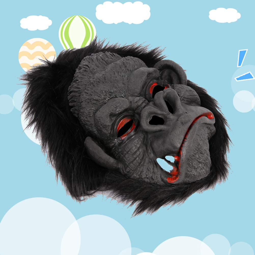 Amosfun Halloween Gorila máscara Traje máscara Halloween Fiesta ...