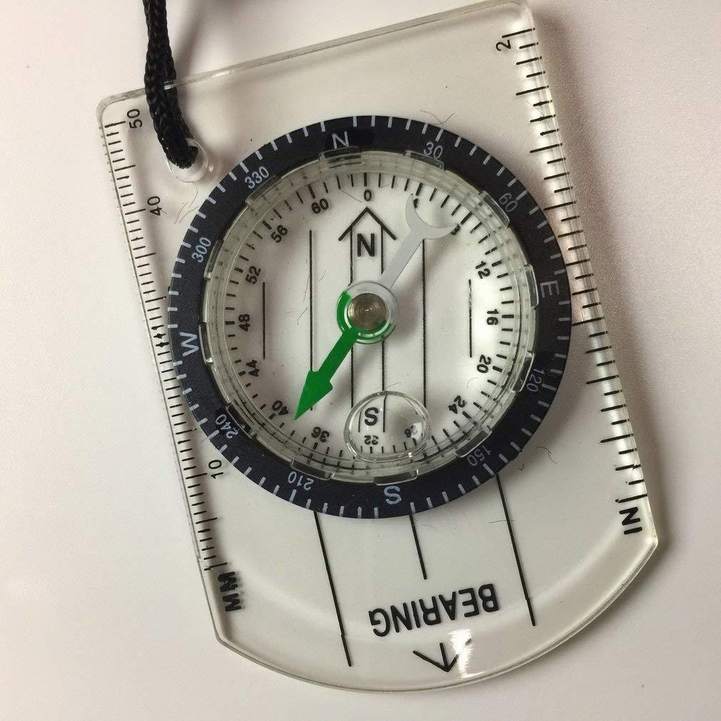 leoboone Multi-Fonction Boussole Portable Survie en Milieu Sauvage /échelle avec la Carte de Survie Compass Navigation de Plein air Camping