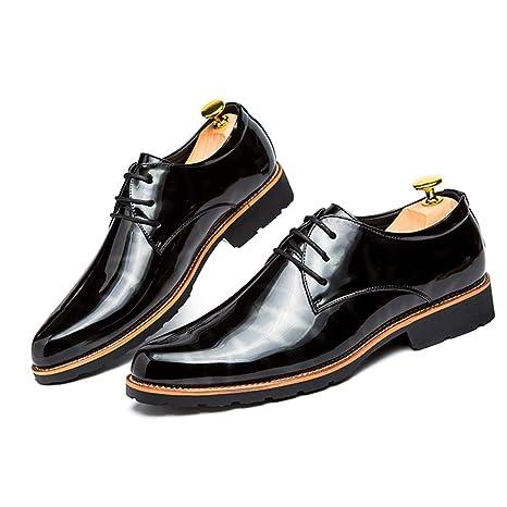 HILOTU Zapatos De Vestir para Hombre Elegantes Zapatos De Oxford De Colores Transpirables Zapatos Casuales De Cuero Acogedoras con Punta De Negocios ...