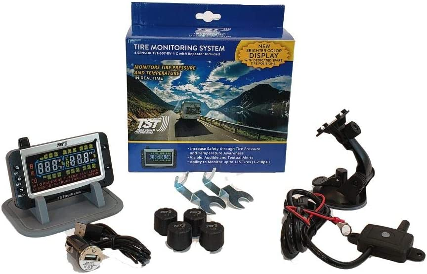 Handles Multiple Trailers TST 507 4 Sensor Tire Monitoring System with Color Display