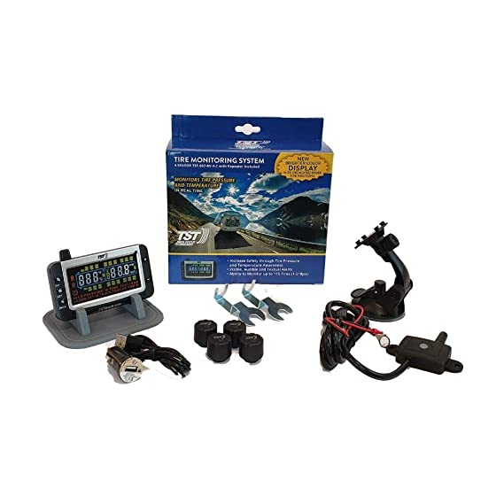 Truck Systems Technology TST 507 Tire Pressure Monitor w/4 Cap Sensors with  Color Display