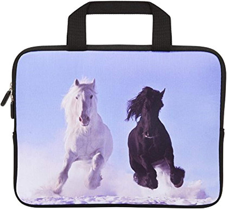 HYUTOTA 11 11.6 12.1 12.5 inch Laptop Carrying Bag Chromebook Case Notebook Ultrabook Bag Tablet Cover Neoprene Sleeve Fit Apple MacBook Air Samsung Google Acer HP DELL Lenovo Asus(Running Horses)