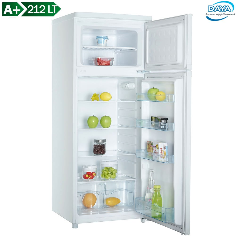 DAYA home appliances - DDP-29H4, Frigorifero Doppia Porta, Statico, Capacità Netta 212 Litri, Classe A+, Bianco