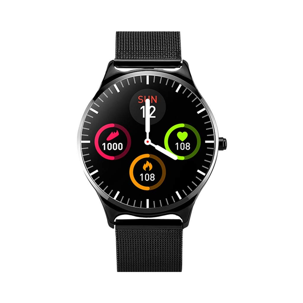 Jialili for iOS for Android CJ69 Multifunction Waterproof IP67 Sport Smart Watch Blood Pressure Heart Rate Monitor Black by Jialili