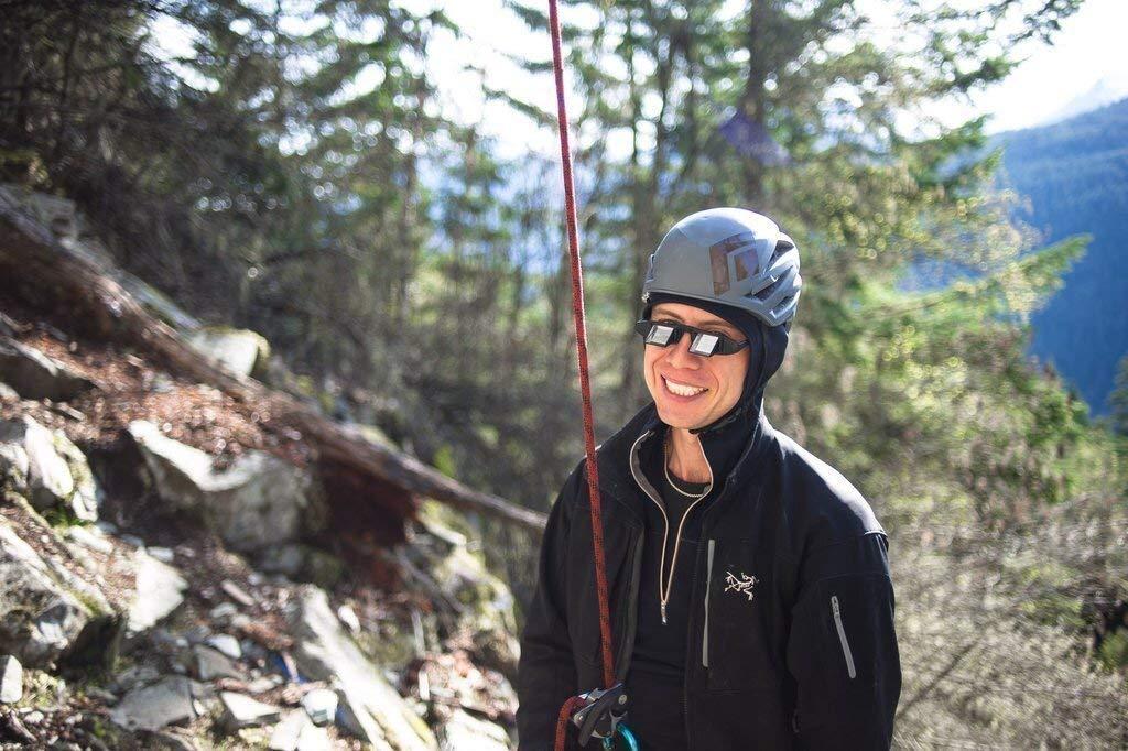 FIT4OLYMP Kletterbrille leichte Prisma Sicherungsbrille zum Klettern sichern Belay f/ür Brillentr/äger zum Nacken entlasten
