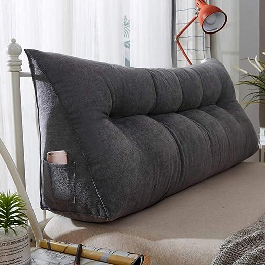 Cojín de cuña triangular tapizado, almohada de sofá cama ...
