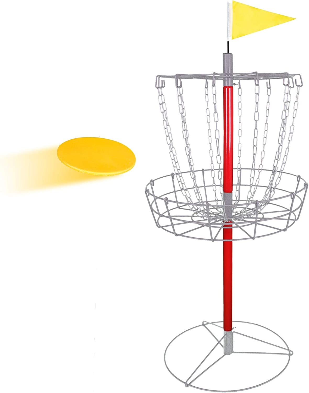 ZENSTYLE ポータブル 12チェーン ディスクゴルフバスケット ターゲット&アクセサリー - 分離可能な軽量鉄製フロルフルフルフ/フリスビーゴルフ練習セット 屋外/屋内用