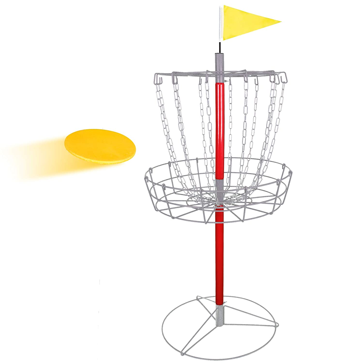 49267b0f5b2096 Amazon.com : ZENSTYLE Portable 12-Chain Disc Golf Basket Target &  Accessories - Separable Lightweight Iron Frolf/Frisbee Golf Practice Set  for ...