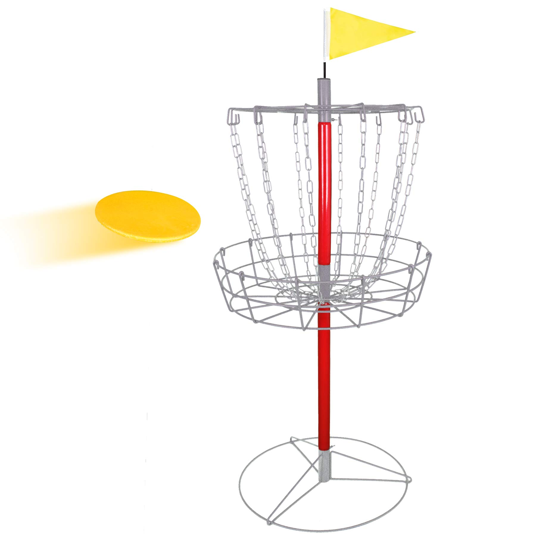 BBBuy Portable Disc Golf Basket, Lightweight Steel Practice Target Steel Frisbee Hole Disc Golf Goals Catcher by BBBuy
