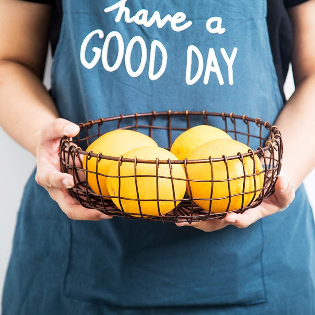 BESTONZON Frutero de metal Almacenamiento de frutas para m/ás vitaminas en su vida diaria Canasta de frutas decorativa negra vintage 20.5 x 20.5 x 7.5 cm