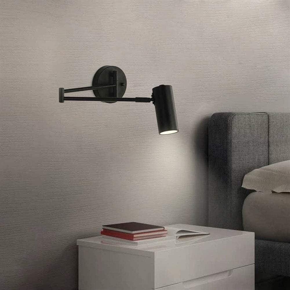 DINGYGJ Lámpara de pared ajustable ángulo de plegado del brazo articulado de pared Luz Hierro forjado lámpara de mesa de doble brazo extensible de pared de luz de la lámpara de lectura for el hogar de