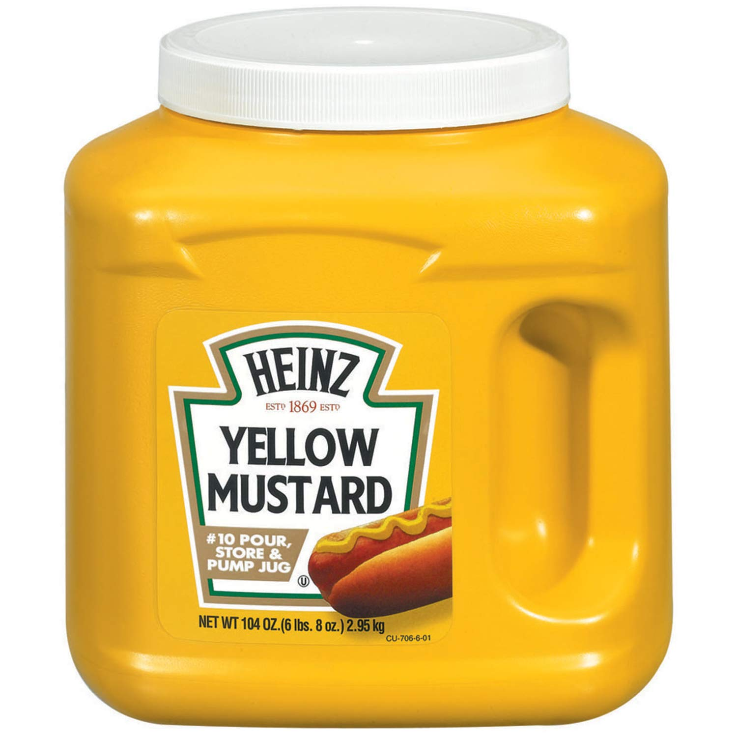 Heinz Bulk Yellow Mustard Jug (104 oz Containers, Pack of 6)