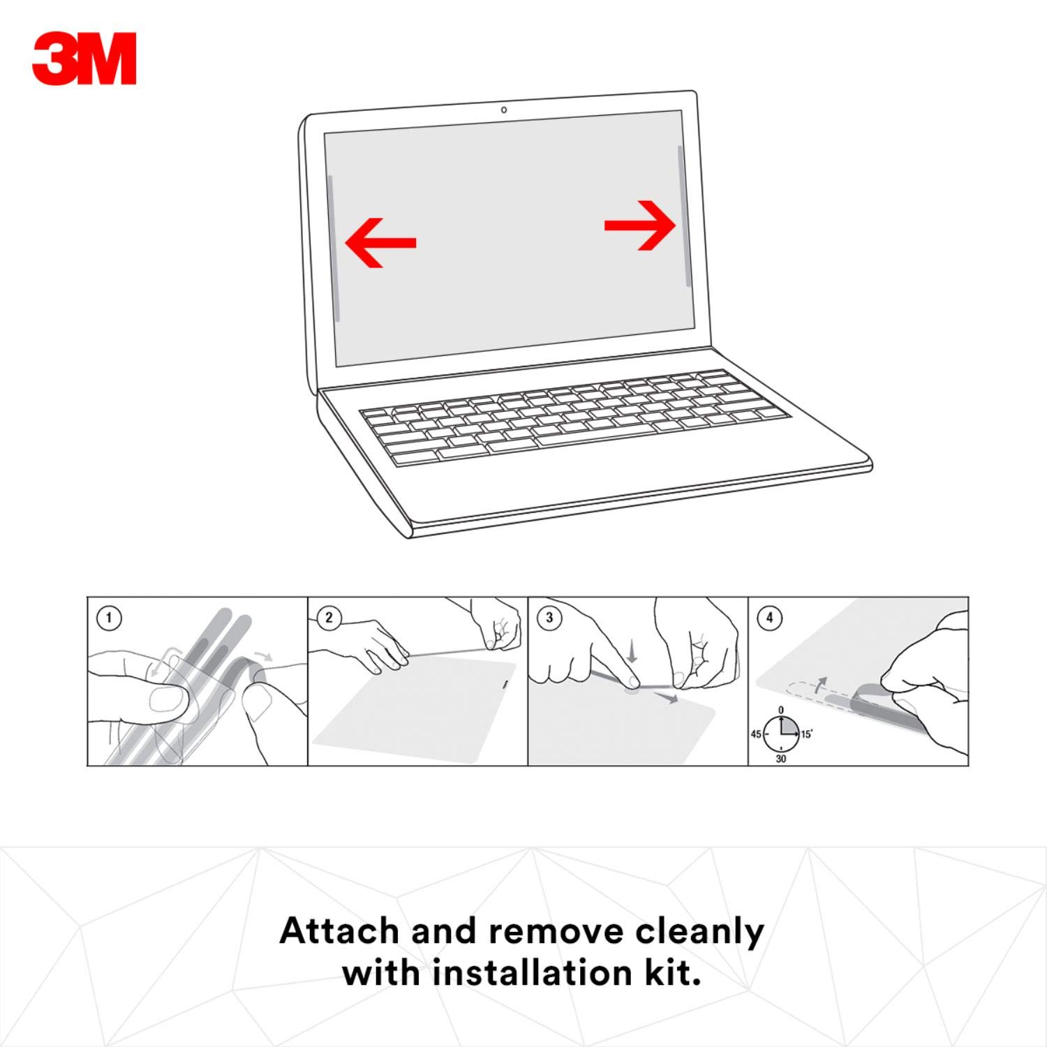 3M Privacy Filter for 15.6'' Edge-to-Edge Widescreen Laptop (PF156W9E) by 3M (Image #5)
