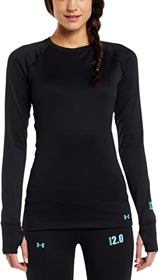 af67c43cd5cf Amazon.com  Under Armour Women s Base 2.0 Crew  Clothing
