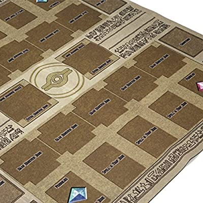 Miklan Rubber Play Mat Egypt Mural Style Competition Pad for Yu-gi-oh Card, 60x60cm: Toys & Games