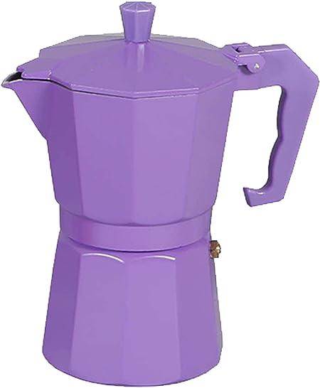 Cafetera italiana clásica aluminio revestido de mármol 6 Taza | (17 x 11 x 19 cm) (violeta): Amazon.es: Hogar