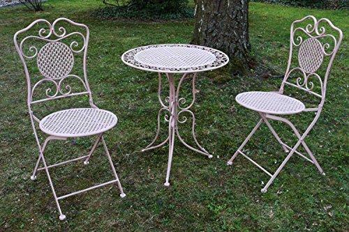 Amazon.de: aubaho Gartenset Tisch und 2 Stühle Eisen Antik-Stil ...