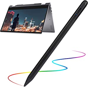 Stylus Pen for Dell 2 in 1 Laptop Pencil, Evach Capacitive High Sensitivity Digital Pencil with 1.5mm Ultra Fine Tip Stylus Pencil for Dell 2 in 1 Laptop Pen, Black