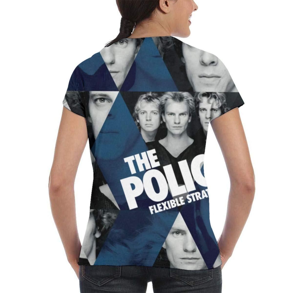 The Police 3D Printed Classic Casual Womans Round Neck Short Sleeve Tshirts