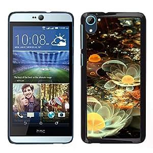 La reproducción de la vida terrenal - Metal de aluminio y de plástico duro Caja del teléfono - Negro - HTC Desire D826