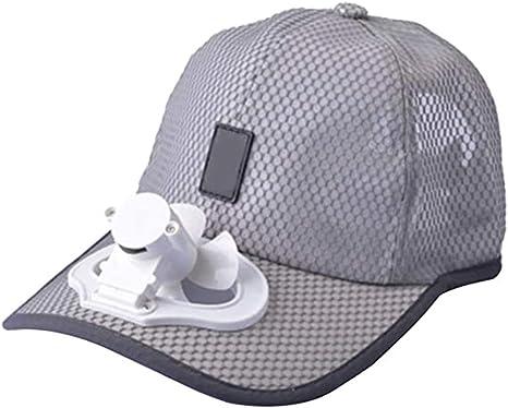 Sombrero Unisex Ventilador Ventilador Camping Senderismo Deporte Béisbol de Verano Gorra de Viaje al Aire Libre Algodón Cable de Carga USB Tapa del Ventilador: Amazon.es: Hogar