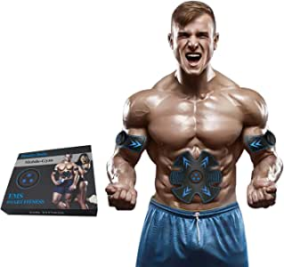 ABS Stimulator Muscle Toner, USB Rechargeable EMS Muscle Stimulator for Men & Wowen Arm & Leg Trainer
