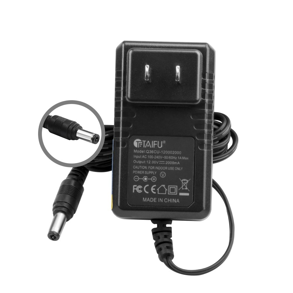 TAIFU 12V AC Adapter for Crosley Radio CR49 CR49-BT CR49-TA CR249 CR249-TA CR32CD CR6233A CR6233A-RE CR7002A CR7002A-PA Tech Turntable Record Player I.T.E Switching Power Supply Cord