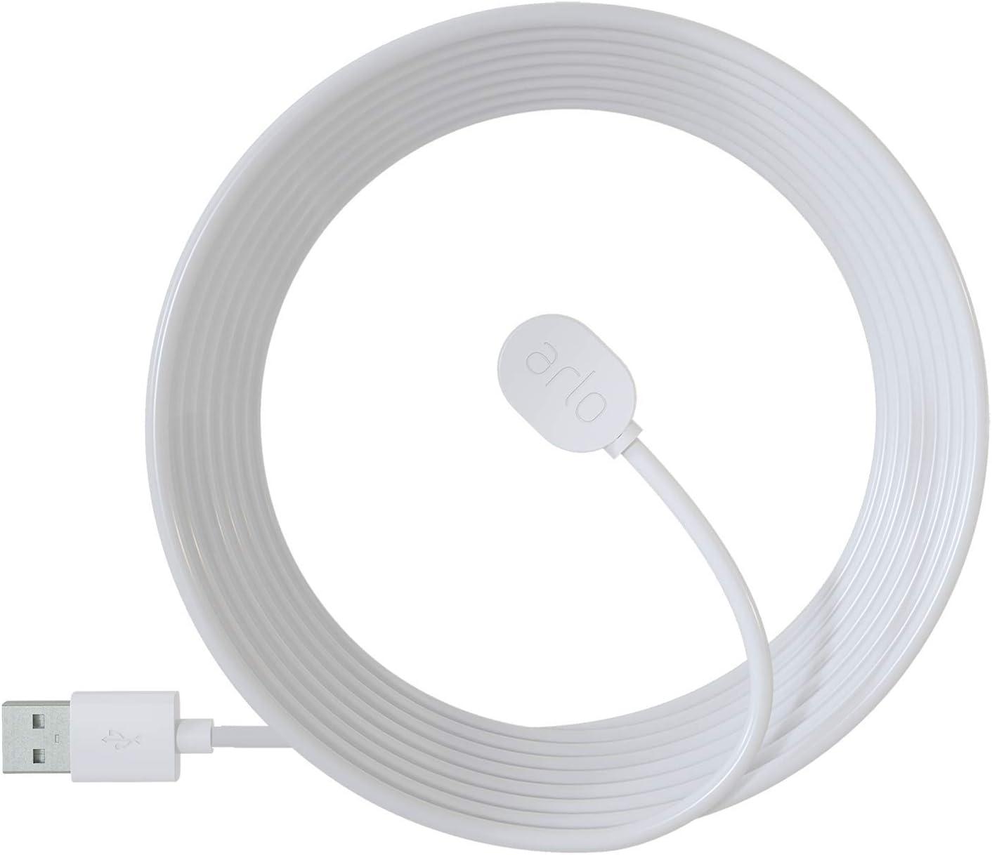 Accessoires Arlo Ultra et Pro 3 - Câble de Recharge Magnétique d'Extérieur...